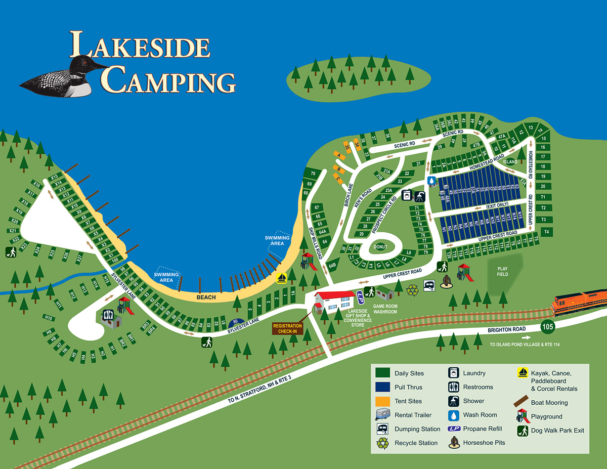 Lakeside Camping Site Map