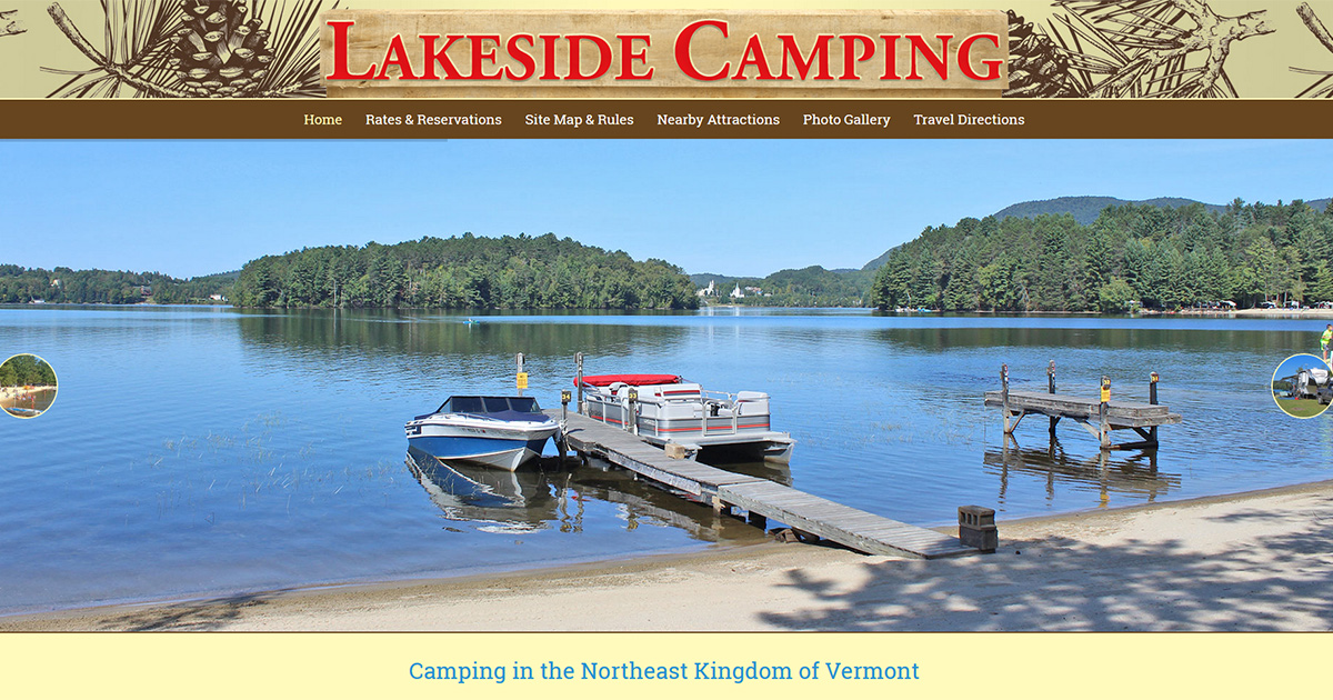 Lakeside Camping :: Camping in Vermont's Northeast Kingdom
